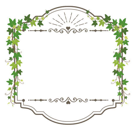 Antique leaf frame (Ivy retro frame)