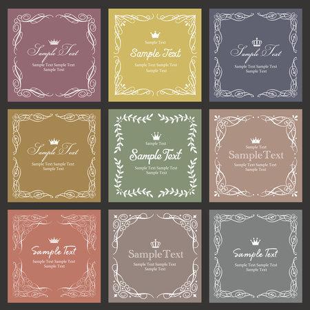 Elegant and classical frameset (antique design)
