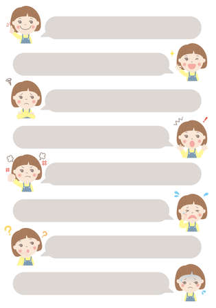 Children's comment balloon set (girl)
