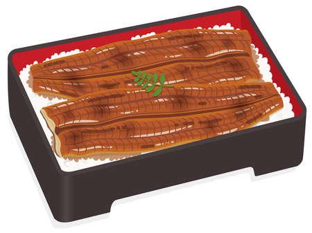 Grilled eel Unaju (Japanese food) Vecteurs