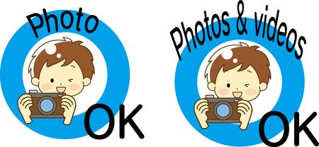 Shooting OK sign and person illustration