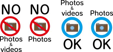 Camera illustration and shooting OK sign Illustration