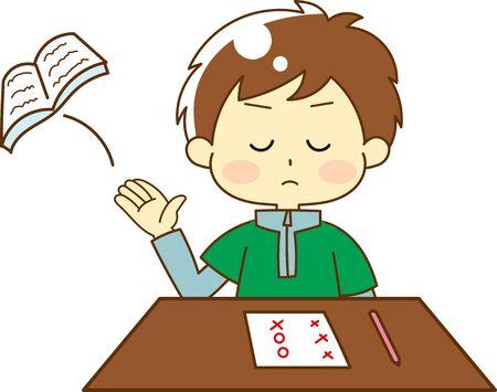 Illustration of Kids Throwing Textbooks 矢量图像