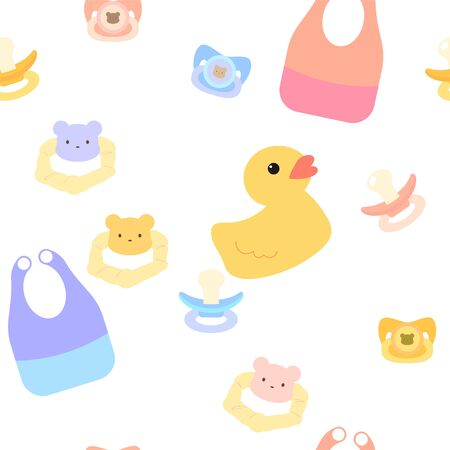 Seamless pattern for baby clothes and toys background Illustration
