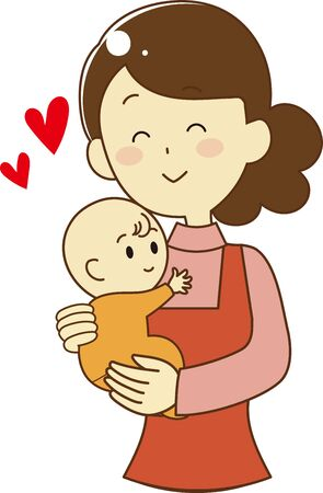 Mother who loves a baby
