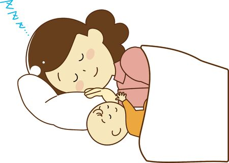 A mother who sleeps well with her baby