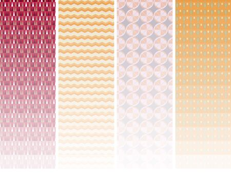 Set of cute colored seamless patterns.EPS is also registered in Swatch