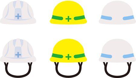3 types of construction helmet illustrations