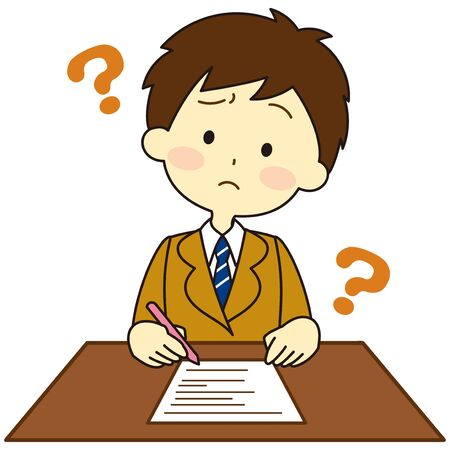 Illustration of a child who cannot understand