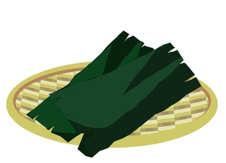 Illustration of a seaweed riding in a colander dry