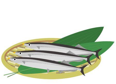 Illustration of a blue fish in a colander Stock fotó - 138433522