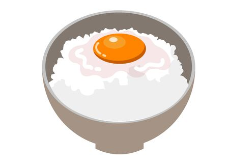 Japanese food that eats raw eggs over white rice