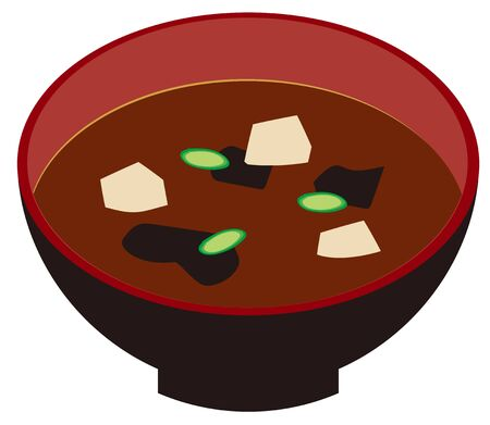 Miso soup with tofu and green onions