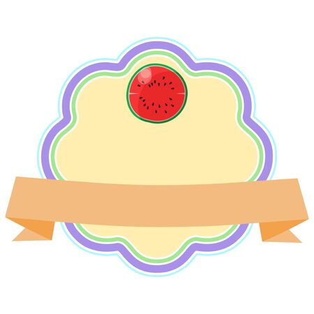 Frame with simple fruit illustration Ilustração
