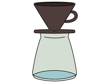 Illustration of a simple glass coffee server Illustration