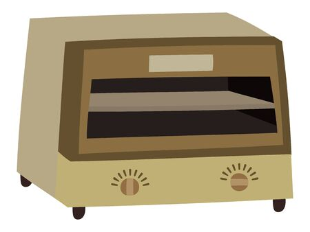 Illustration of a simple oven toaster