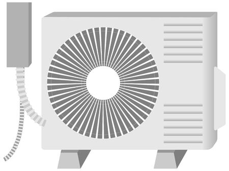 Illustration of outdoor unit of air conditioner 일러스트