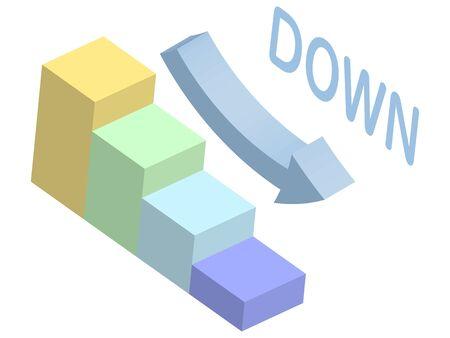 3D diagram of descending graph