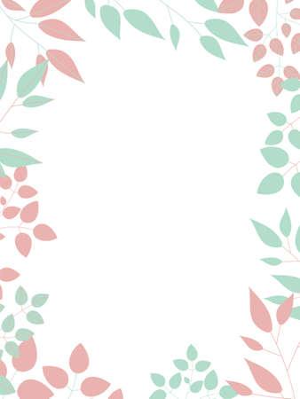 Simple frame of botanical illustration
