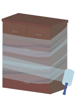 Illustration of using packing film Ilustrace