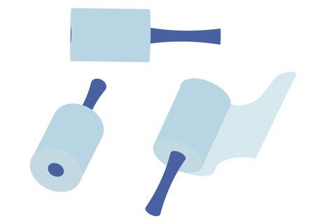 Illustration of using packing film