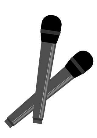 Illustration of a simple microphone set 向量圖像