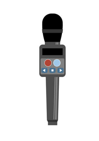 Illustration of home karaoke microphone 向量圖像