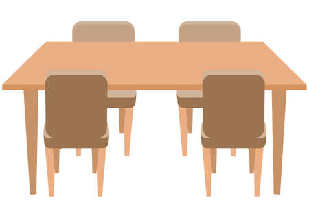 Illustration of a simple dining table