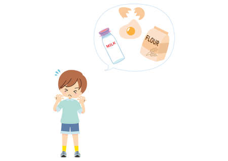 Illustration of an allergic itchy child