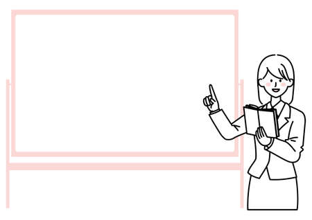 Person illustrations and copy space explained on the whiteboard