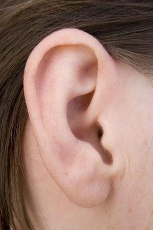 aural: Woman ear Stock Photo
