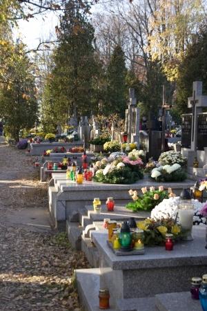 Geschmückte Gräber in Allerheiligen, Polen Lizenzfreie Bilder - 264787