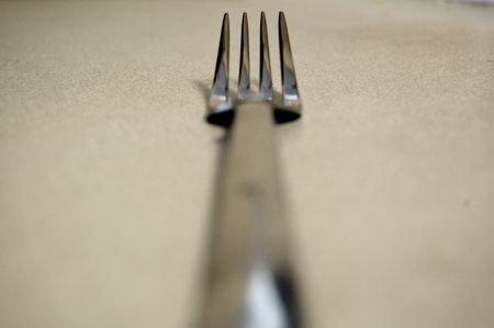 Fork on table