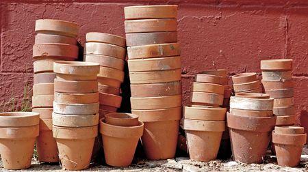 Pottery for plants Banco de Imagens