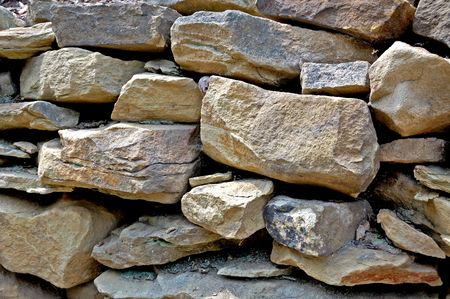 Layers of rocks and stones