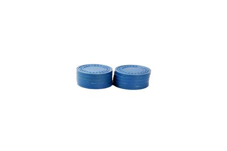 Blue Casino Chips - 2 Stacks