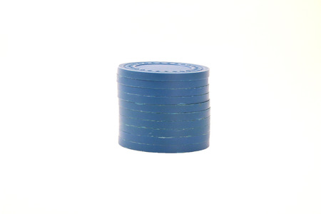 Blue Casino Chips Stacked
