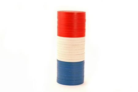 USA Colored Poker Chips Thick Stacked