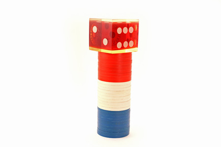USA Colored Poker Chips with Die
