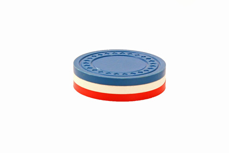 USA Colored Poker Chips Stacked