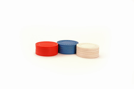 USA Colored Stacked Casino Chips