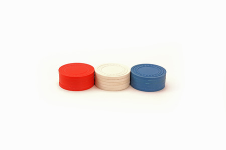 USA Colored Stacked Poker Chips - Row  Banco de Imagens