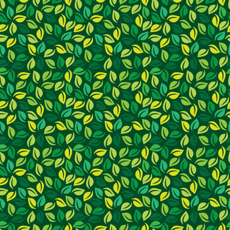 arranged: seamless leaf pattern with leaves randomly arranged