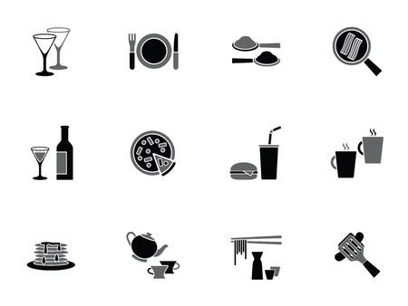 panqueques: Colección de iconos de alimentos y bebidas