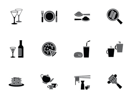 pancakes: Collection of food and beverage icons