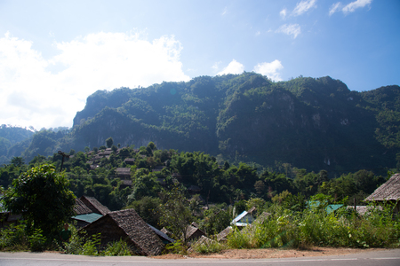 diaspora: Mountains village. Stock Photo