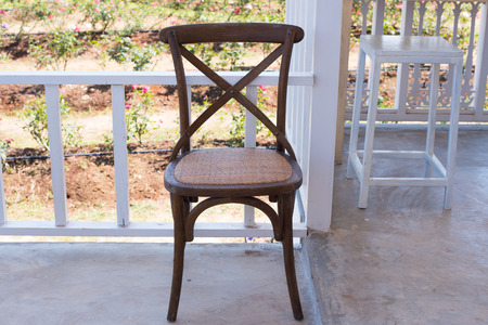 humble: Wooden chair and table for decoration