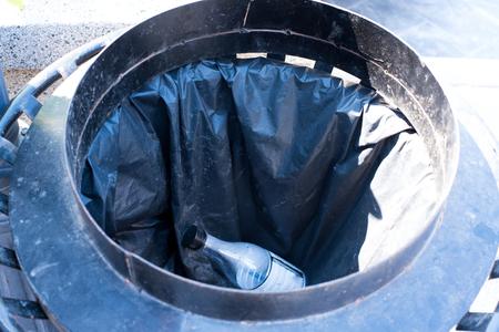 A bin on street. Stock Photo