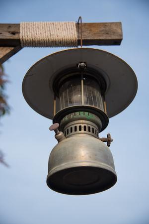 Old lantern lamp vintage style. Stock Photo