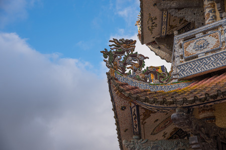 part of temple roof traditional chinese temple architecture